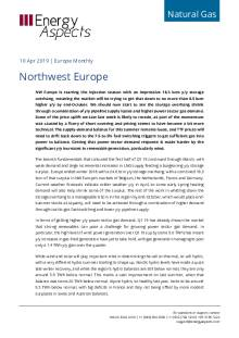 2019-04-10 Natural Gas - Northwest Europe cover
