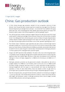2019-04-11 Natural Global LNG - China: Gas production outlook cover