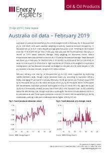 2019-04 Oil - Data review - Australia oil data – February 2019 cover