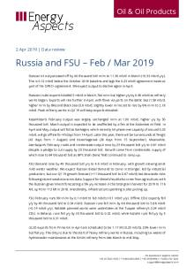 Russia and FSU – Feb / Mar 2019 cover image