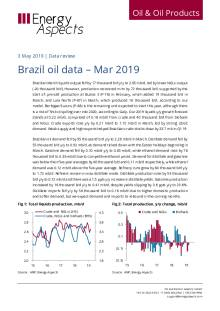 Brazil oil data – Mar 2019 cover image