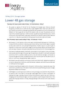 2019-05-14 Natural Gas - North America - Lower 48 gas storage cover