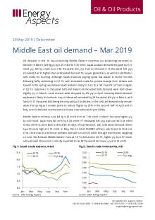 2019-05 Oil - Data review - Middle East oil demand – Mar 2019 cover