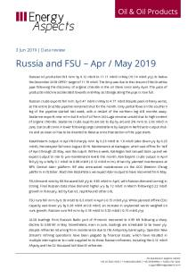 Russia and FSU – Apr / May 2019 cover image