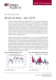 Brazil oil data – Apr 2019 cover image