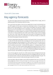 2019-06 Oil - Data review - Key agency forecasts cover