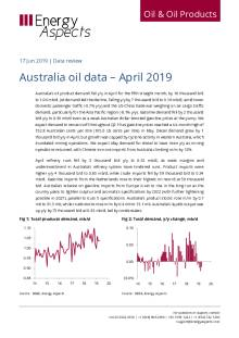 Australia oil data – April 2019 cover image