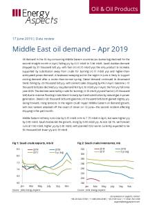 2019-06 Oil - Data review - Middle East oil demand – Apr 2019 cover