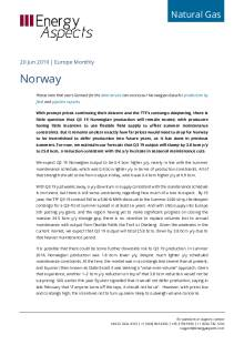 2019-06-20 Natural Gas - Europe - Norway cover