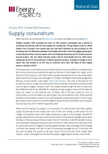 2019-06-25 Natural Gas - Global LNG - Supply conundrum cover