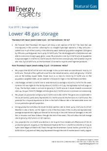 2019-07-09 Natural Gas - North America - Lower 48 gas storage cover