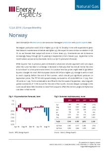 2019-07-12 Natural Gas - Europe - Norway cover