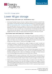 2019-07-16 Natural Gas - North America - Lower 48 gas storage cover