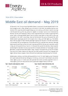 Middle East oil demand – May 2019 cover image