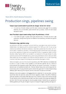Production sings, pipelines swing cover image
