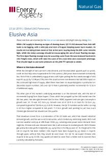 2019-07-23 Natural Gas - Global LNG - Elusive Asia cover