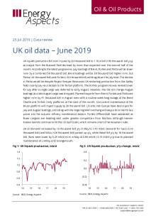 UK oil data – June 2019 cover image