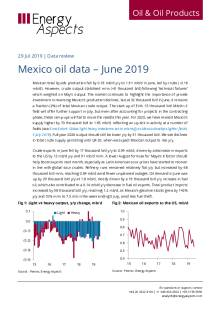 Mexico oil data – June 2019 cover image