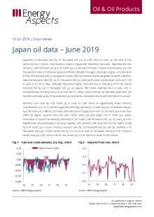 Japan oil data – June 2019 cover image