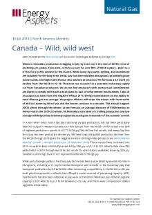 2019-07-30 Natural Gas - North America - Canada – Wild, wild west cover