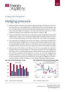 2019-08-05 Oil - Perspectives - Hedging pressure cover