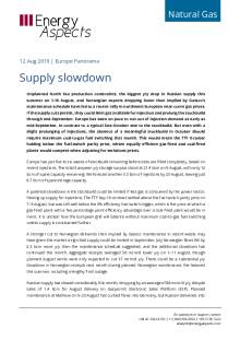 2019-08-12 Natural Gas - Europe - Supply slowdown cover