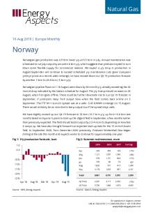 2019-08-16 Natural Gas - Europe - Norway cover