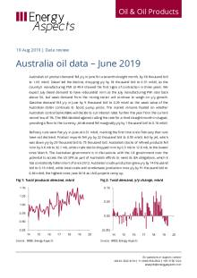 Australia oil data – June 2019 cover image