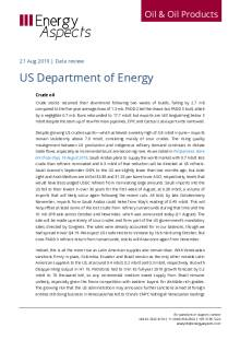 2019-08 Oil - Data review - US Department of Energy cover