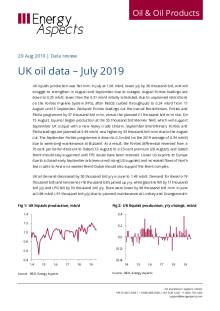 UK oil data – July 2019 cover image