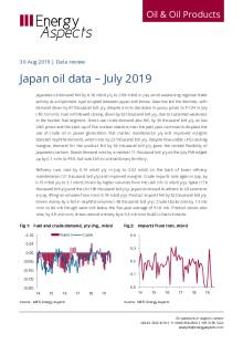 Japan oil data – July 2019 cover image