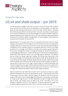 US oil and shale output – Jun 2019 cover image