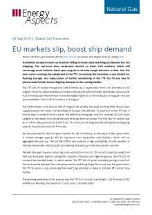 2019-09-03 Natural Gas - Global LNG - EU markets slip, boost ship demand cover