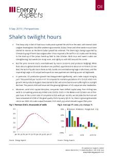 2019-09-09 Oil - Perspectives - Shale's twilight hours cover