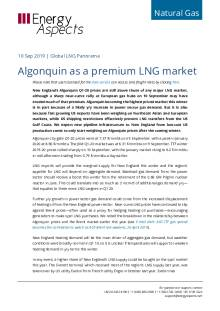 2019-09-10 Natural Gas - Global Algonquin as a premium LNG market cover
