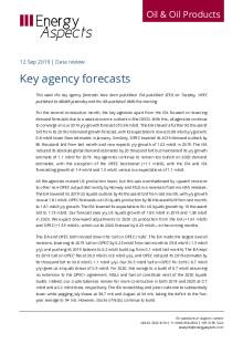 2019-09 Oil - Data review - Key agency forecasts cover
