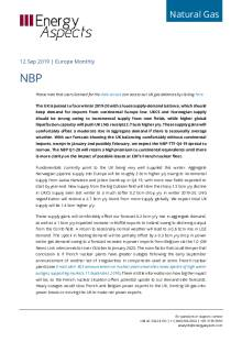 2019-09-12 Natural Gas - Europe - NBP cover