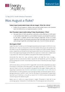 Was August a fluke? cover image