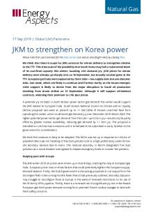 JKM to strengthen on Korea power cover
