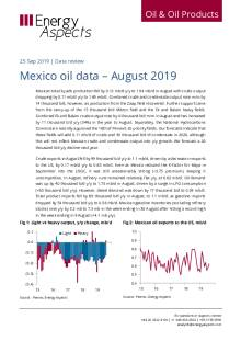 2019-09 Oil - Data review - Mexico oil data – August 2019 cover