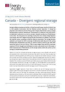 2019-09-25 Natural Gas - North America - Canada – Divergent regional storage cover