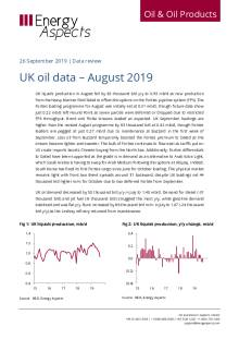 2019-09 Oil - Data review - UK oil data – August 2019 cover
