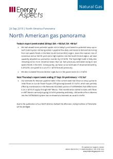 North American gas panorama cover image