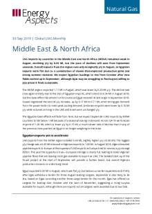2019-09-30 Natural Gas - Global LNG - Middle East & North Africa cover