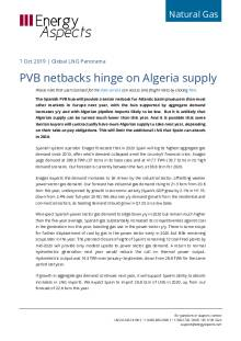 2019-10-01 Natural Gas - Global LNG - PVB netbacks hinge on Algeria supply cover