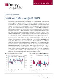 Brazil oil data – August 2019 cover image