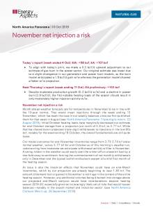 2019-10-10 Natural Gas - North America - November net injection a risk cover