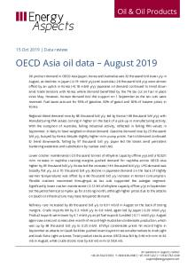 2019-10 Oil - Data review - OECD Asia oil data – August 2019 cover