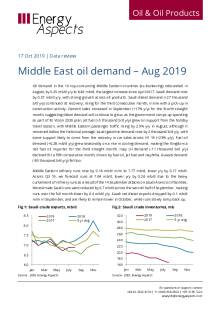 2019-10 Oil - Data review - Middle East oil demand – Aug 2019 cover