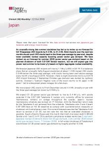 2019-10-22 Natural Gas - Global LNG - Japan cover